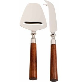 2 Piece Cheese Knife Set with Acacia
