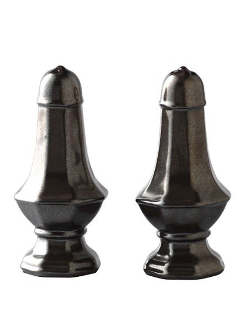Pewter Salt & Pepper Shaker Set/2 - Bride & Groom have Received