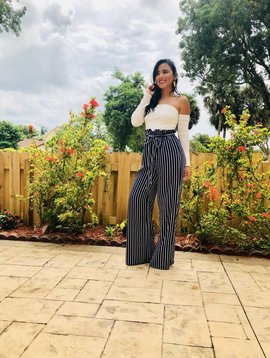 0c0b46acb4 Striped Jumpsuit Strapless With Sleeves