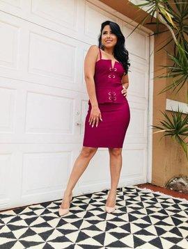 Chic Dyanne Peplum Bandage Dress
