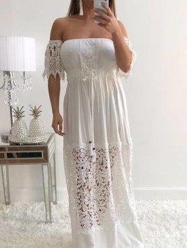Chic Crochet Detail Long Dress
