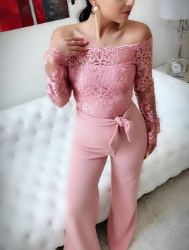 Jumpsuit With Lace Top