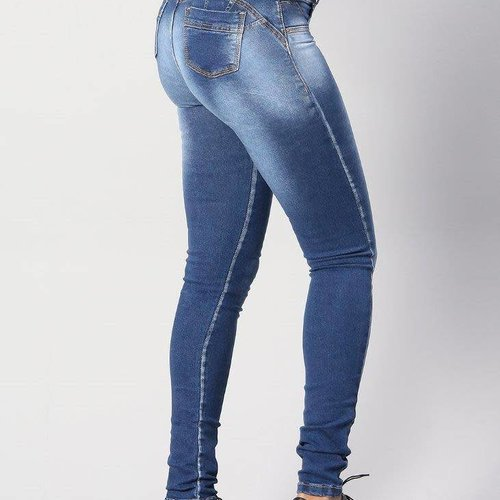 Push Up Light Strip Jeans
