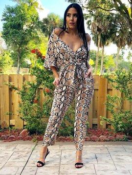 Chic Snake Print Jumpsuit