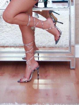 Sexy Snake point toe heels