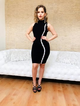 Chic Wave Stripe Mini Dress