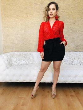 Sexy Plaid Mesh Bodysuit