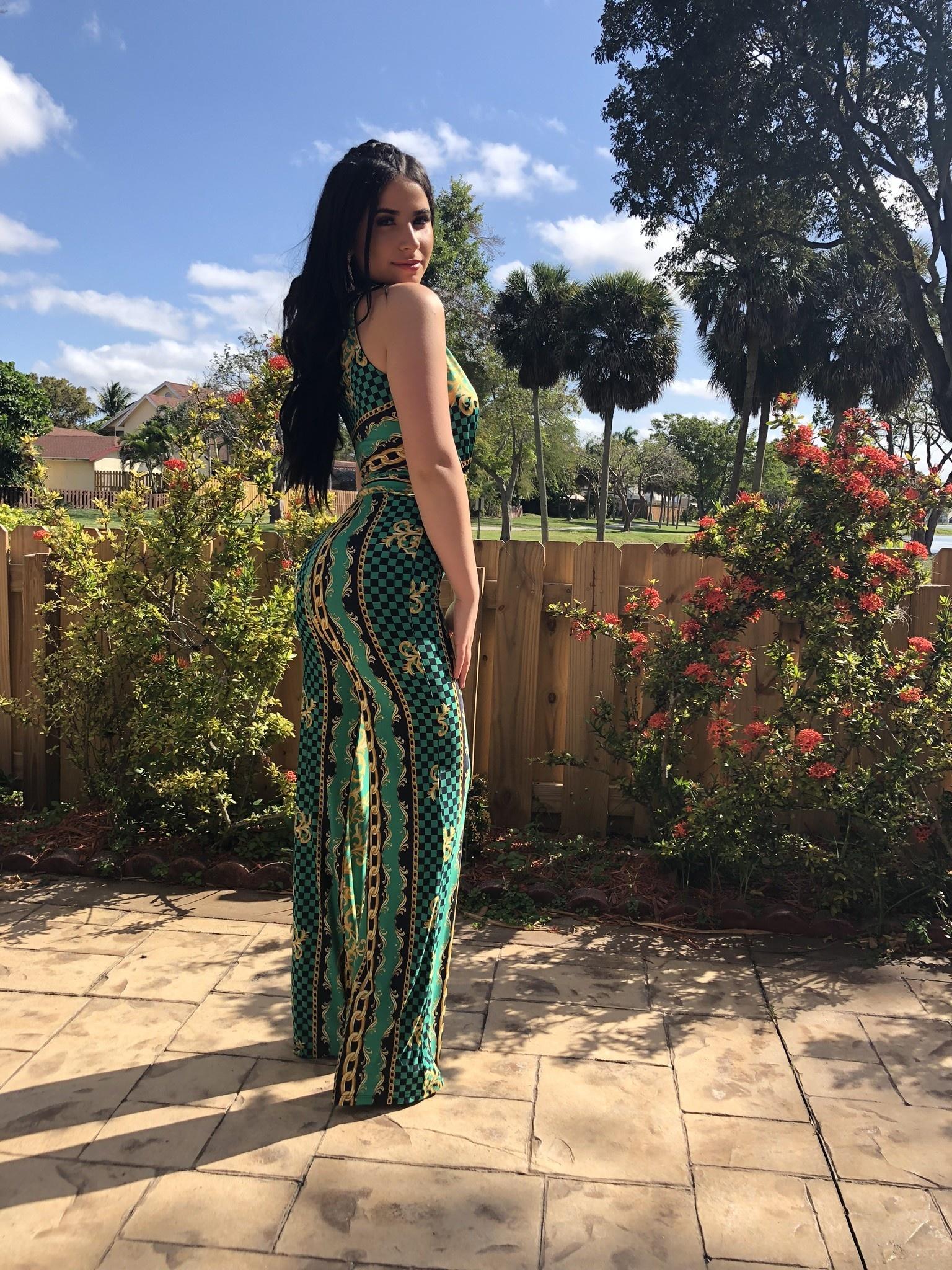 Venechia Printed Sleeveless Jumpsuit