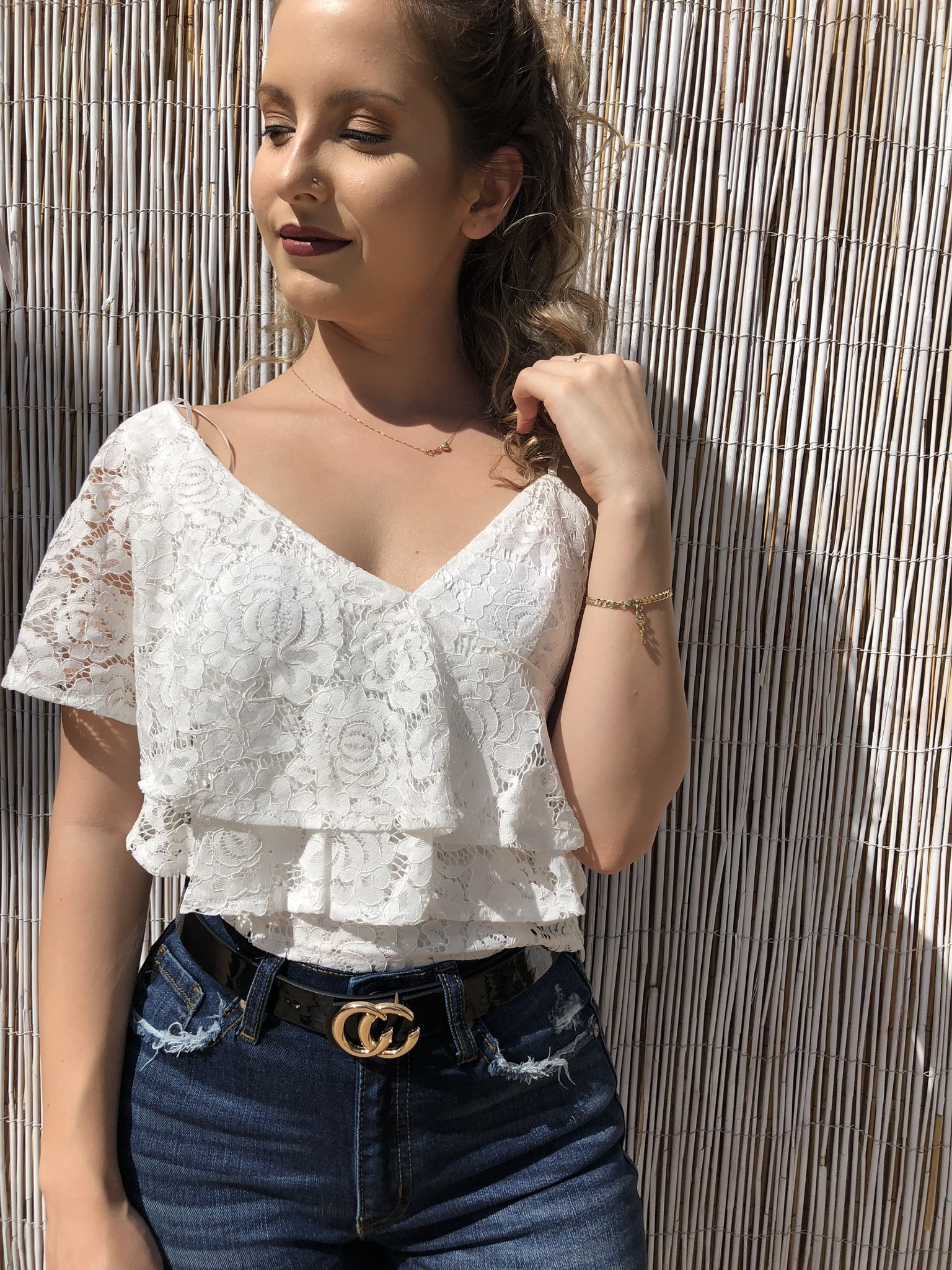 Sexy Layered Lace Cami Top