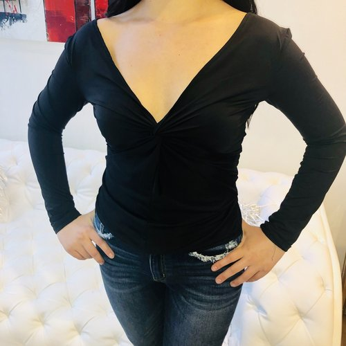 Sexy V-Neck Open Back Detail