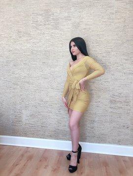 Sexy Chevron Knit Wrap Dress