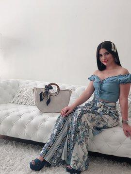 Chic Printed Waist Tie Palazo Pants