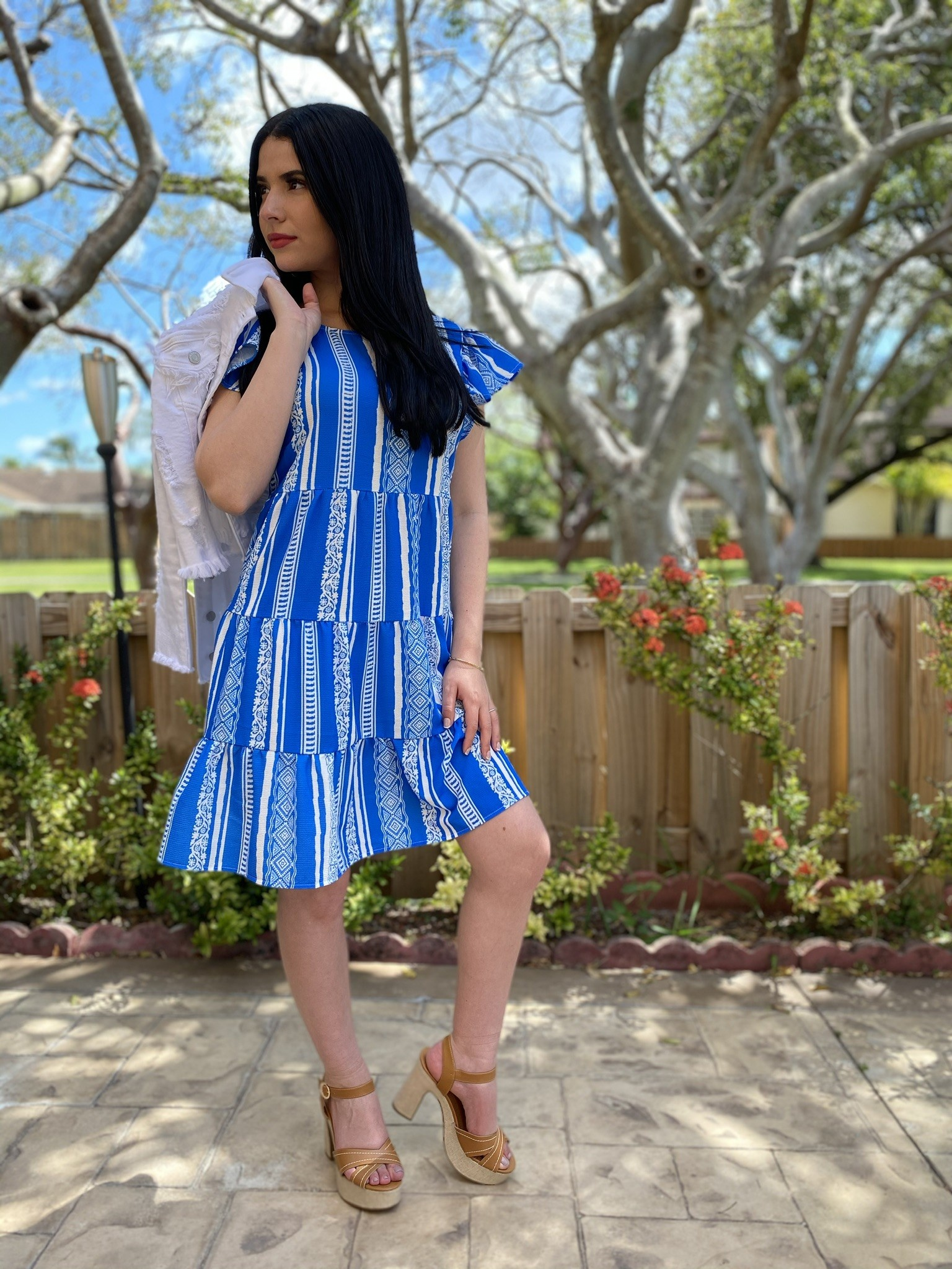 Printed Flowy Mini Dress
