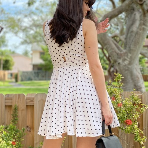 Flare Polka Dot Dress