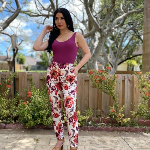 Floral Printed Skinny Pants