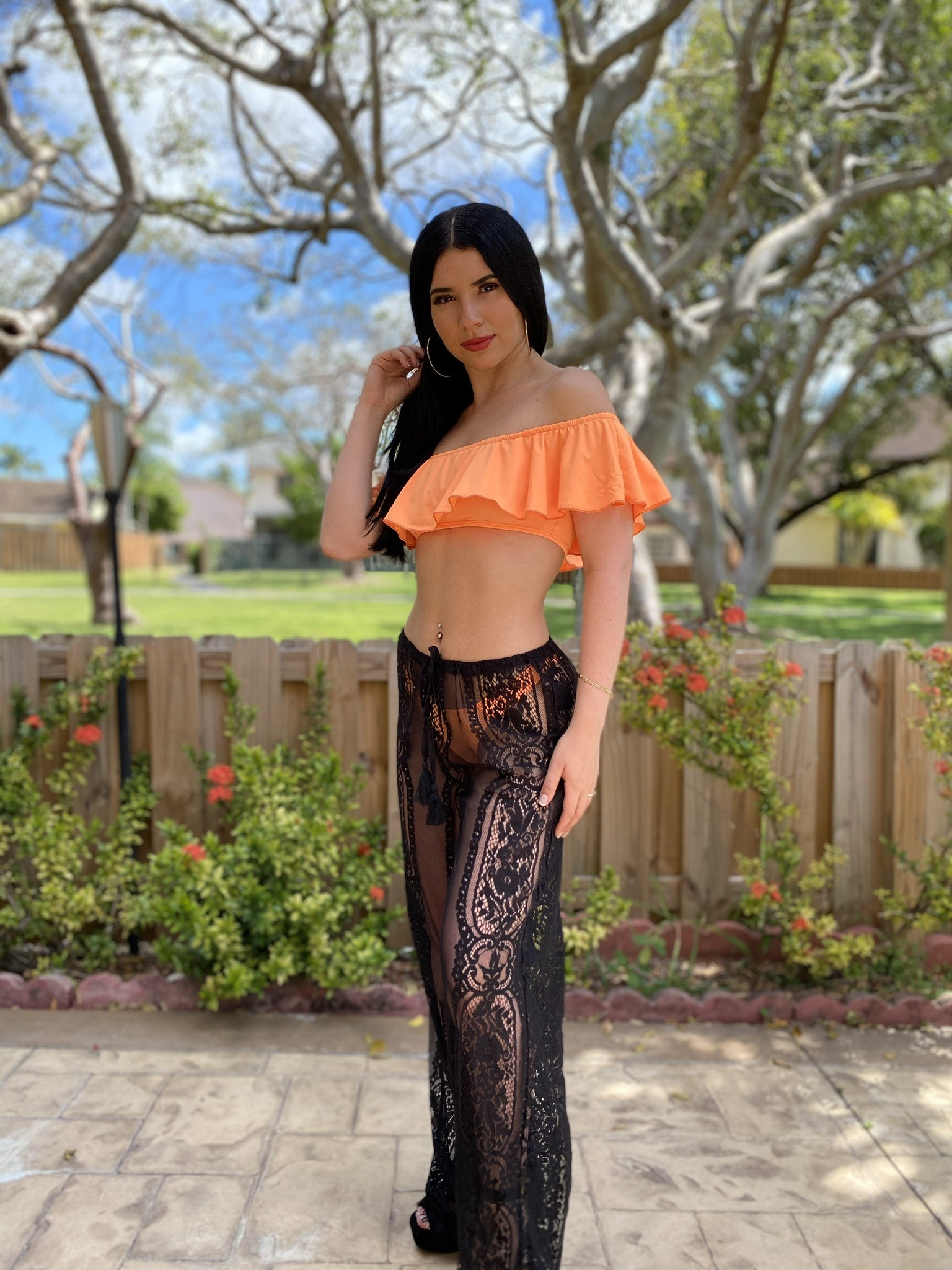 Lace Beach Pants