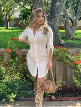Sexy Shirtdress  3/4 sleeves