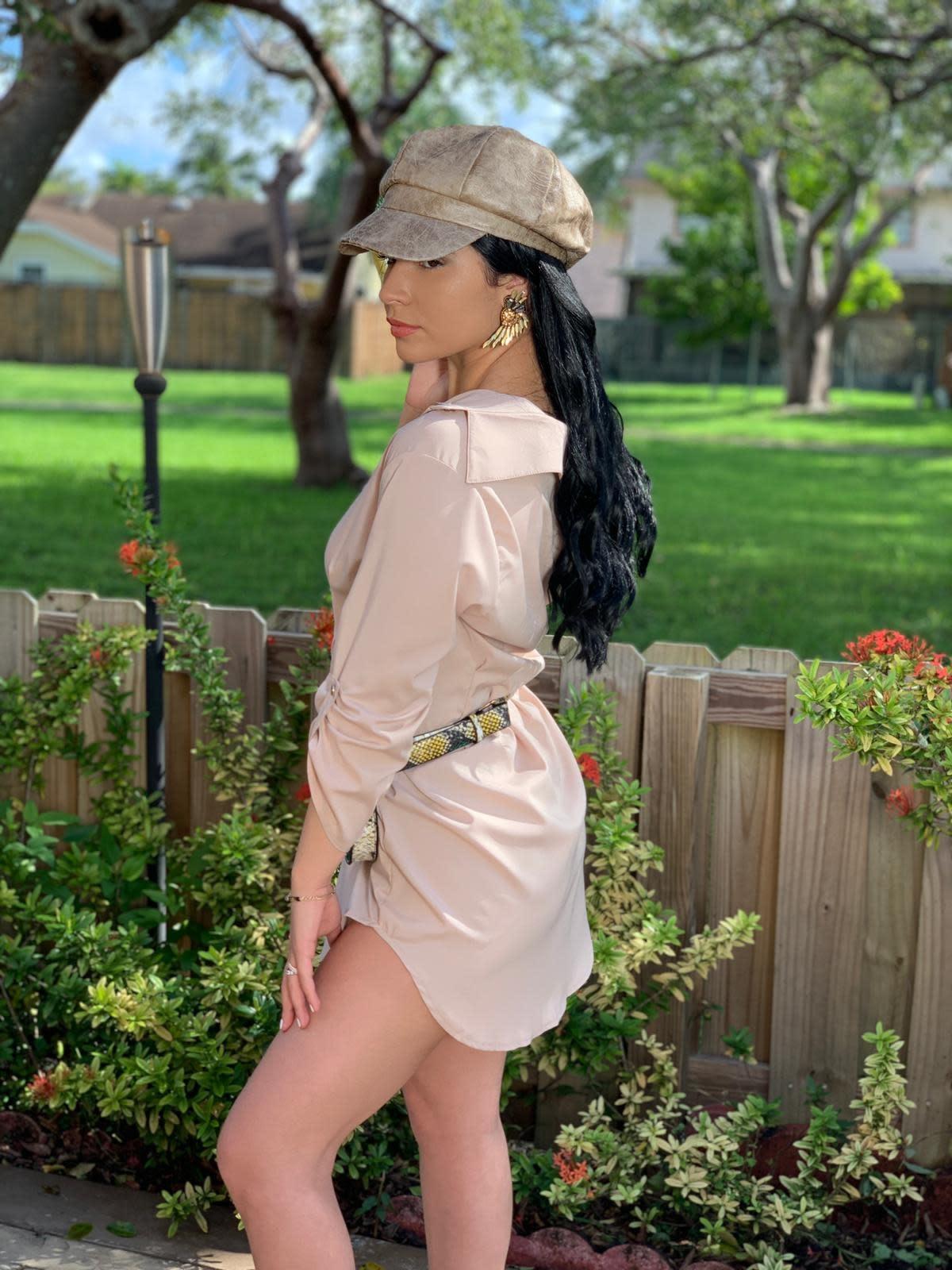 Sexy Shirtdress  3/4 sleeves