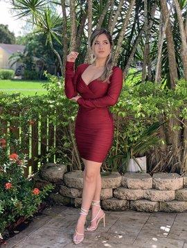 Sexy Open Back Bodycon Mini Dress