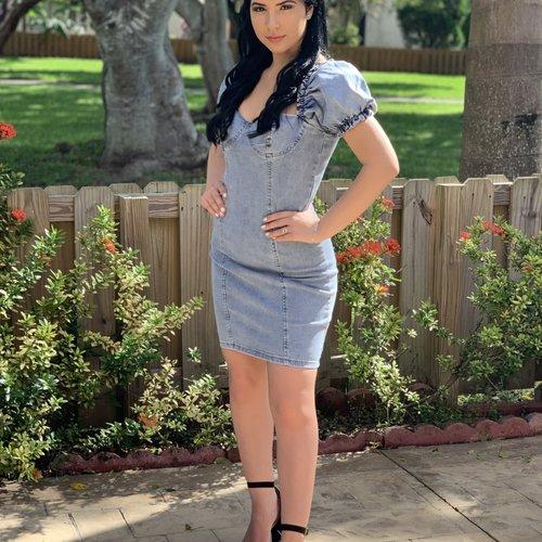 22220 Denim Corset Mini Dress