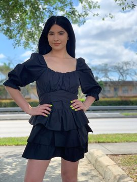 201524 Italian Ruffle Dress