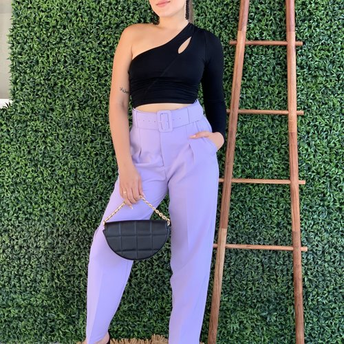 40080 High Waisted Belted Pants