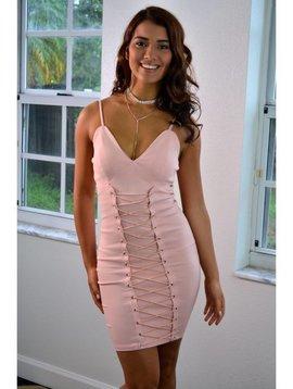 Sexy Lace Up Mini Dress