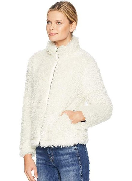 Light Sherpa Fur Classic Jacket