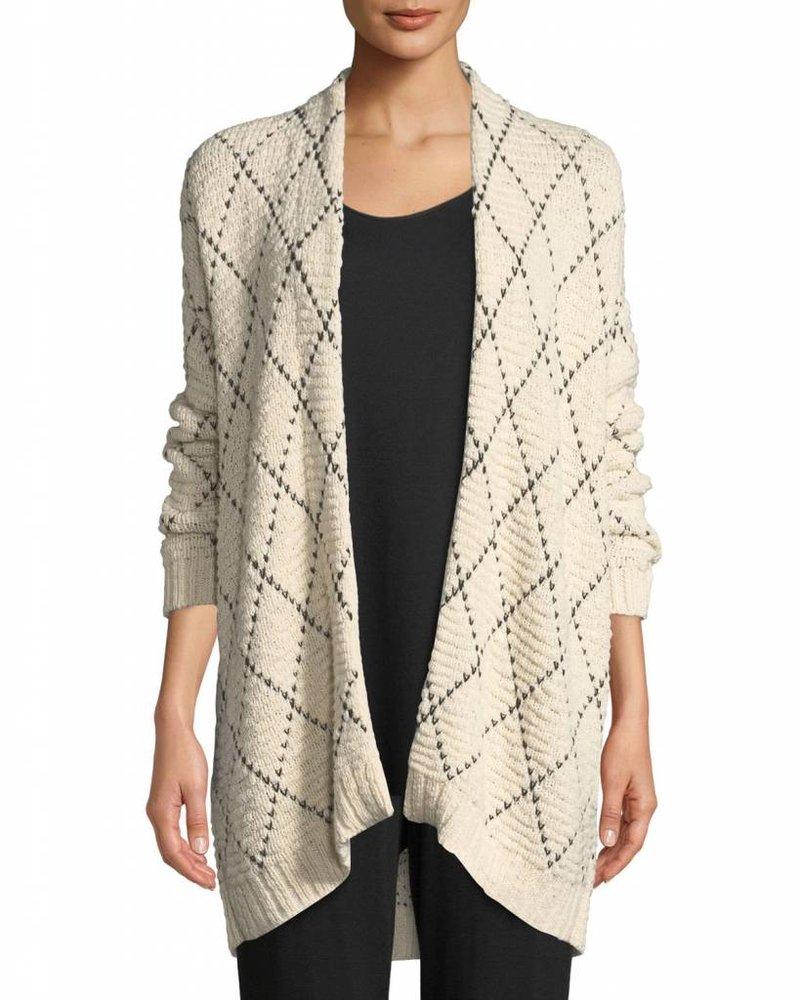 Eileen Fisher Peruvian Org. Cotton Diamond Kimono Cardi