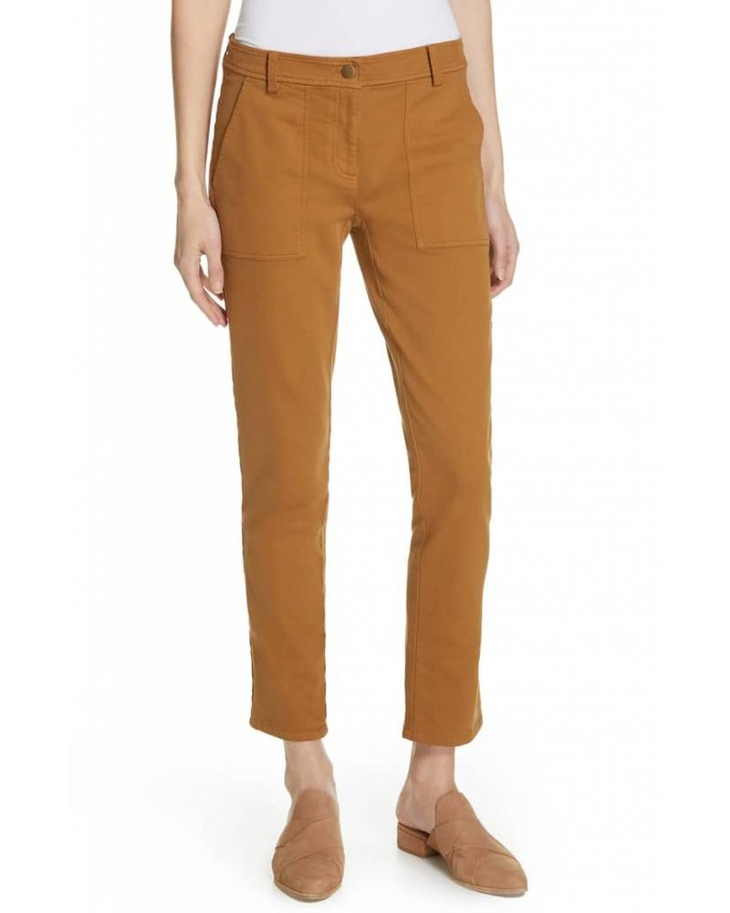 Eileen Fisher Cozy Org. Cotton Stretch Slim Pant