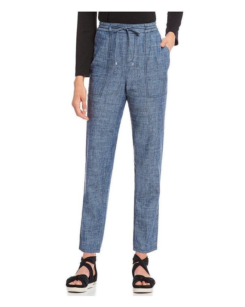 Eileen Fisher Hemp & Org. Cotton Chambray D/S Pant