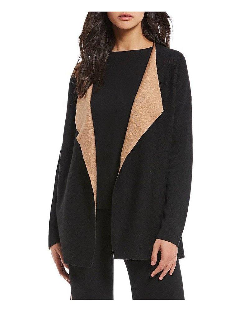 Eileen Fisher Silk + Org Cotton Cascading Cardigan