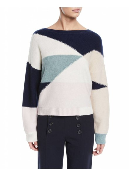 Joie Megu Colorblock Wool/Cashmere Sweater