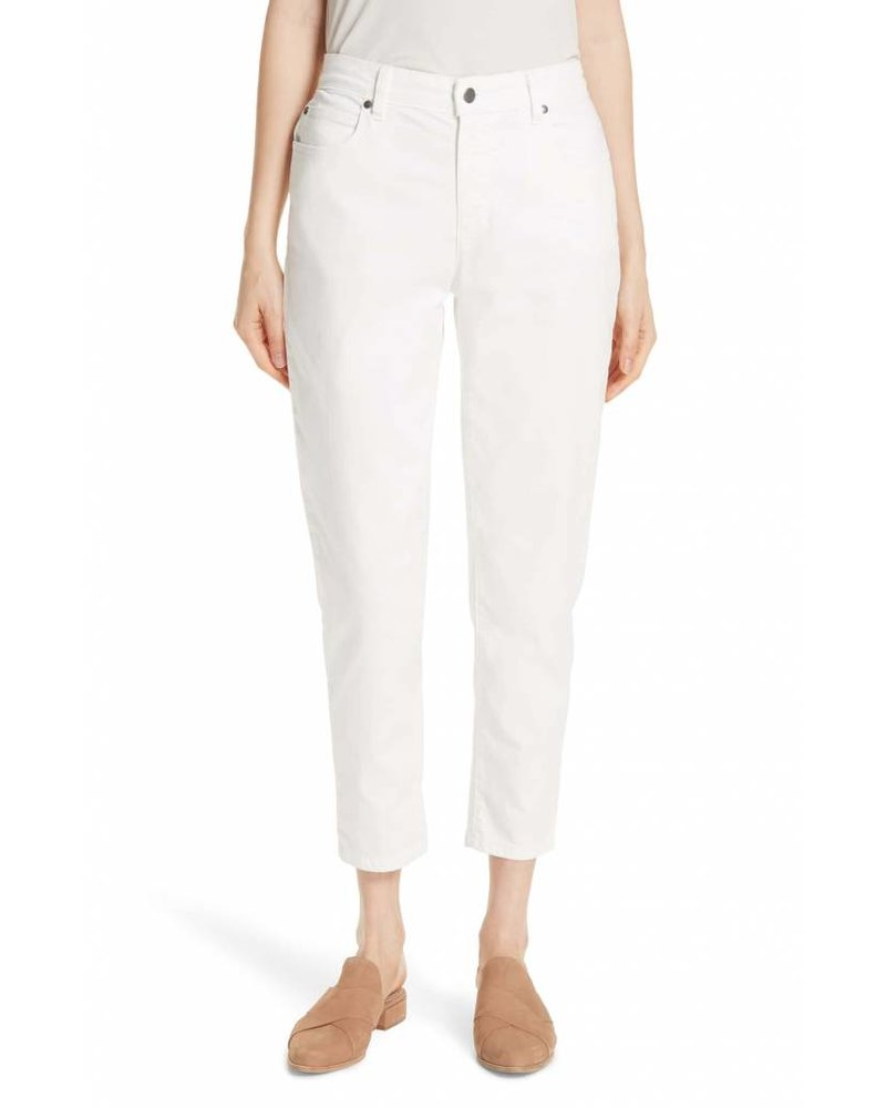 Eileen Fisher Garment-Dyed Org Cotton Str Denim Ankle Jean