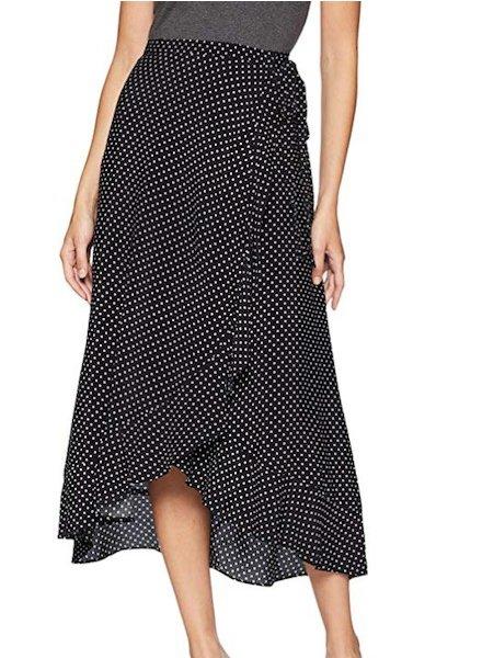 Three Dot Dot Printed Crepe Skirt