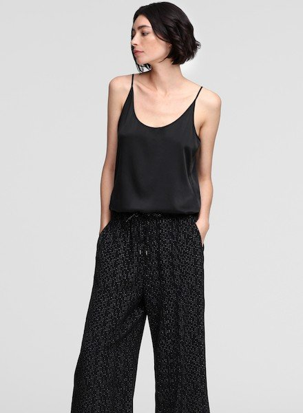 Eileen Fisher ScoopNk Stretch Silk Charmeuse Cami