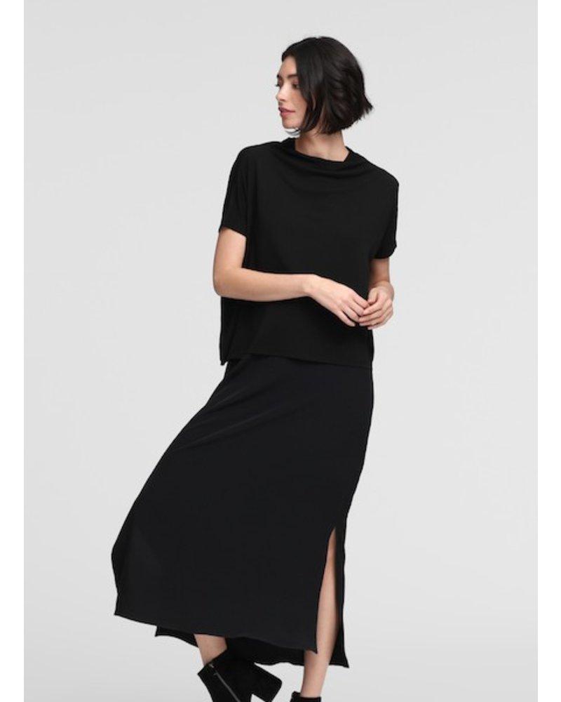Eileen Fisher Funnel Nk Stretch Silk Jersey Top