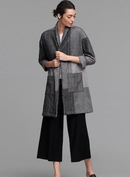 Eileen Fisher Org. Cotton Hazy Blocks Jacket