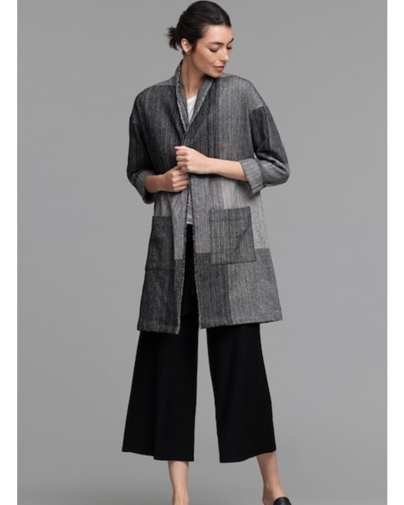Eileen Fisher Org. Cotton Hazy Blocks Jacket
