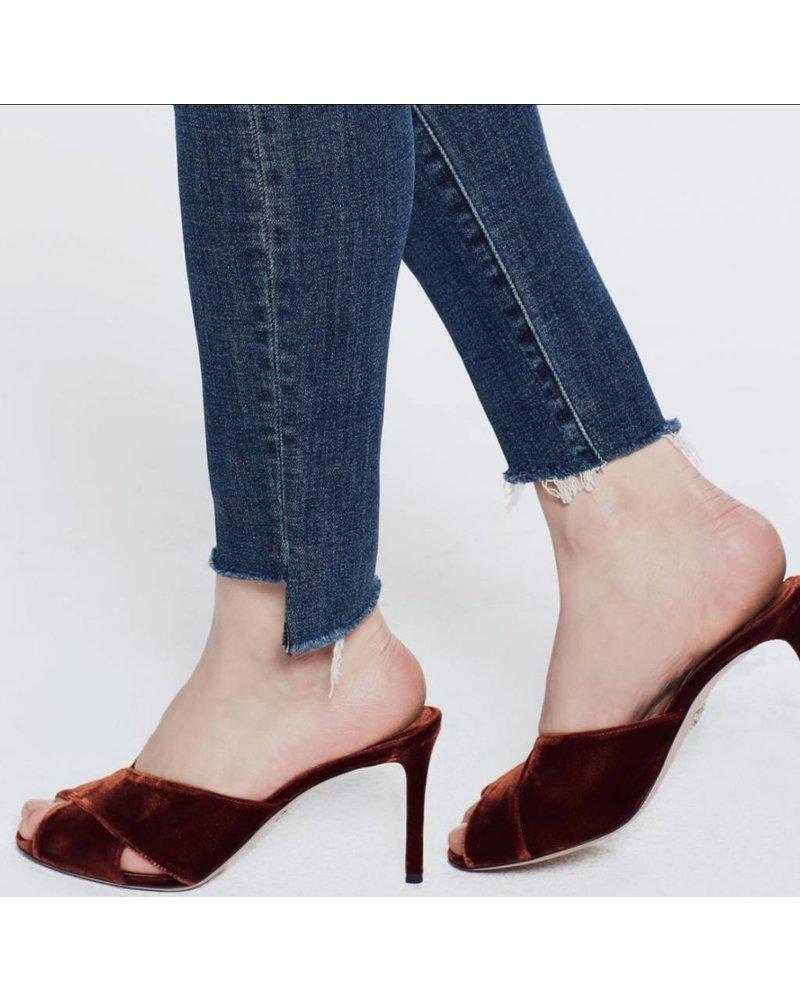 Mother Denim Looker Ankle Step Fray