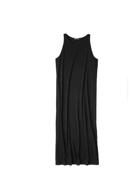 Eileen Fisher Viscose Jersey Full Length Dress