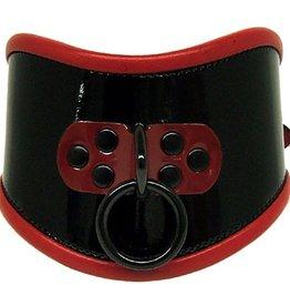 Kookie International Blk Patent Posture Collar