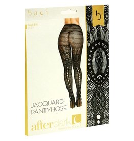 Baci Fancy Knit Striped Pantyhose