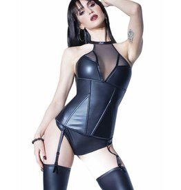 Coquette International Darque Matte Wetlook Boned Bustier