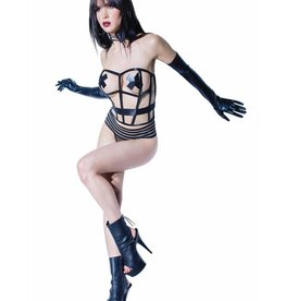 Coquette International Darque Boned Cage Corset O/S