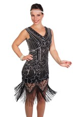 Western Fashion Flapper Beaded Dress