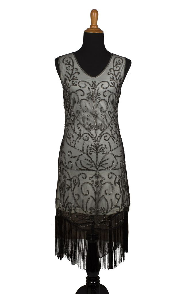 Western Fashion Flapper Dress with Fringe