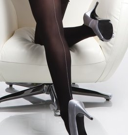 Coquette International Stockings Blk/silver back seam o/s