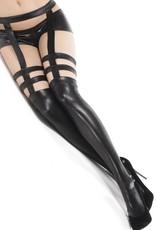 Coquette International Wetlook stockings Black