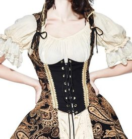 Western Fashion Brocade Vest with Corset Front